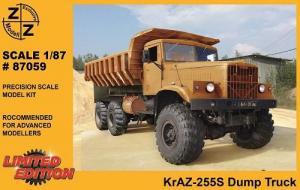 Модель KrAZ 255S Dump Truck-для самостоятельной сборки.Пр-во Z@Z.Арт.87059.Масштаб 1:87 (НО).