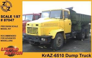 Модель KrAZ-6510 Dump Truck-для самостоятельной сборки.Пр-во Z@Z.Арт.87047.Масштаб 1:87 (НО).