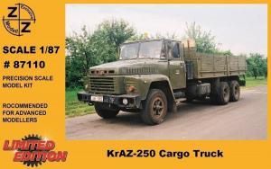 Модель KrAZ-250 Cargo Truck-для самостоятельной сборки.Пр-во Z@Z.Арт.87110.Масштаб 1:87 (НО).