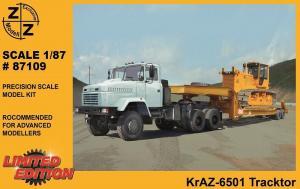 Модель KrAZ-6501 Tracktor-для самостоятельной сборки.Пр-во Z@Z.Арт.87109.Масштаб 1:87 (НО).