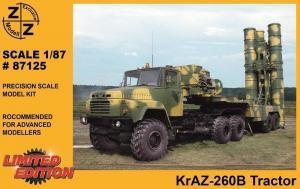 Модель KrAZ-260B Tracktor-для самостоятельной сборки.Пр-во Z@Z.Арт.87125.Масштаб 1:87 (НО).