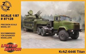Модель KrAZ-6446 Titan-для самостоятельной сборки.Пр-во Z@Z.Арт.87128.Масштаб 1:87 (НО).