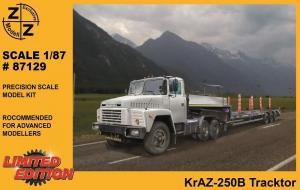 Модель KrAZ-250B Tracktor-для самостоятельной сборки.Пр-во Z@Z.Арт.87129.Масштаб 1:87 (НО).
