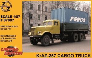 Модель KrAZ 257 Cargo Truck-для самостоятельной сборки.Пр-во Z@Z.Арт.87087.Масштаб 1:87 (НО).