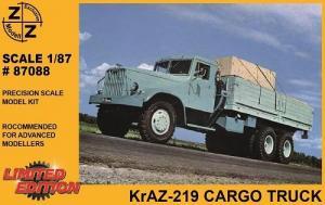 Модель KrAZ 219 Cargo Truck-для самостоятельной сборки.Пр-во Z@Z.Арт.87088.Масштаб 1:87 (НО).