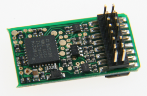 Модель цифрового декодера типа PluX 16.Пр-ва Uhlenbrock.Арт.76150.Масштаб НО-НОе-НОм (1:87).