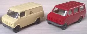 Модели микроавтобусов Bedford.Пр-во WIKING.Масштаб НО (1:87).