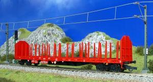 Модель 4-х осной платформы для перевозки леса.Пр-во PIKO.Арт.54333.Масштаб НО (1:87).